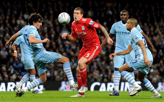 Carling Cup : Stefan Savic - Daniel Agger, Manchester City v Liverpool