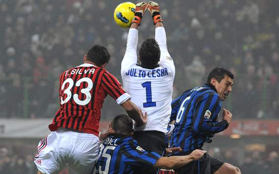 Julio Cesar hopes to atone for Inter's 'horrible' season with derby win