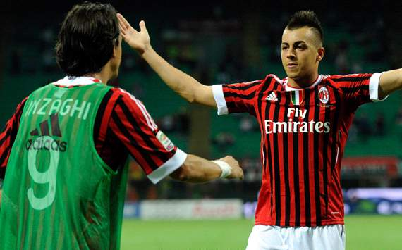 Inzaghi & El Shaarawy - Milan (Getty Images)