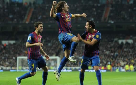 Cesc Fabregas, Carles Puyol, Xavi, Real Madrid, Barcelona