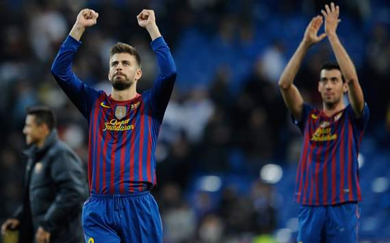 Copa del Rey: Real Madrid-Barcelona: Gerard Pique, Sergi Busquets