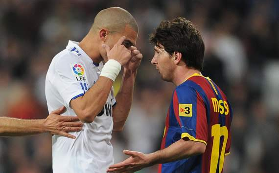 Liga BBVA: Real Madrid-Barcelona: Pepe, Lionel Messi