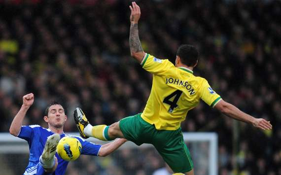 EPL,Bradley Johnson,Frank Lampard,Norwich City v Chelsea