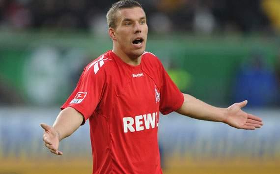 VfL Wolfsburg v 1. FC Koeln - Bundesliga, Lukas Podolski