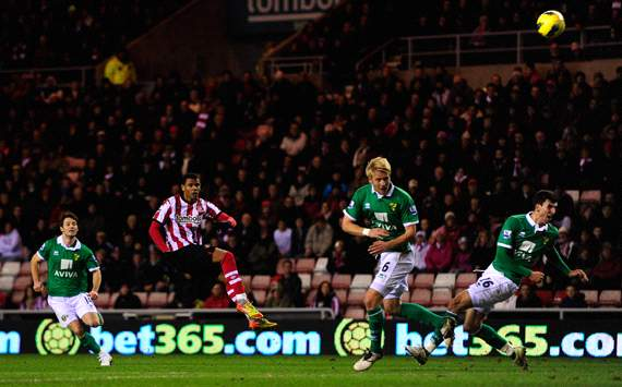 EPL: Frazier Campbell, Sunderland v Norwich City