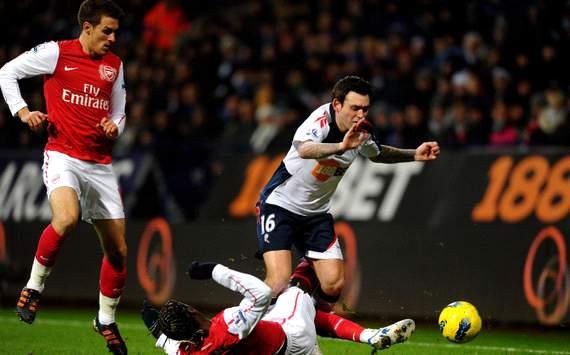 EPL: Bacary Sagna - Mark Davies, Bolton Wanderers v Arsenal