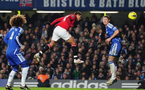 EPL - Chelsea v Manchester United, Gary Cahill and Javier Hernandez