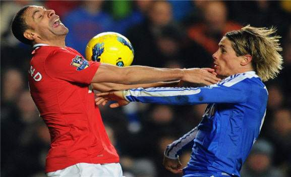 Rio Ferdinand, Torres, chelsea Vs manchester united
