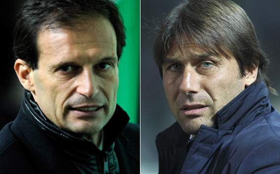 Allegri & Conte - Milan-Juventus (Getty Images)