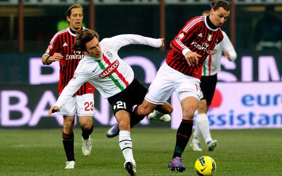 Pirlo & Ibrahimovic - Milan-Juventus - Tim Cup (Getty Images)