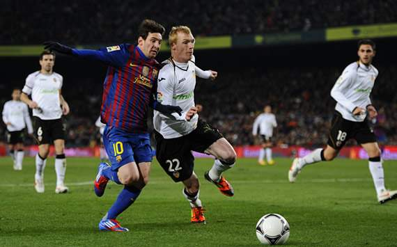 Copa del Rey: Barcelona-Valencia: Lionel Messi; Jeremy Mathieu