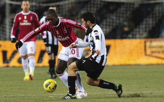 Michele Pazienza and Clarence Seedorf - Udinese-AC Milan - Serie A (Getty Images)