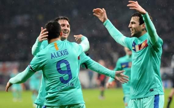 Champions League, Bayer Leverkusen vs FC Barcelona, Alexis Sanchez, Cesc Fabregas, Lionel Messi
