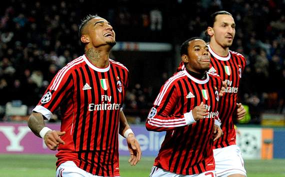 Boateng, Robinho, Ibrahimovic - Milan-Arsenal (Getty Images)