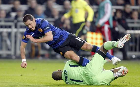 Javier Hernandez, Kenneth Vermeer - Ajax - Manchester United