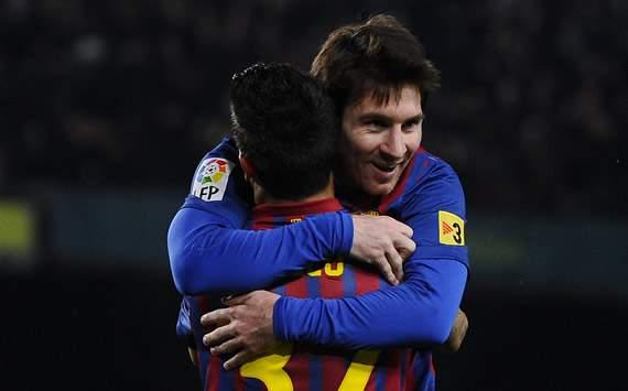 Liga BBVA: Barcelona-Valencia: Lionel Mess, Christian Tello