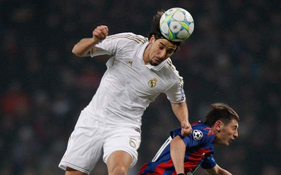 Champions League: PFC CSKA Moskva v Real Madrid CF: Sami Khedira; Alan Dzagoev