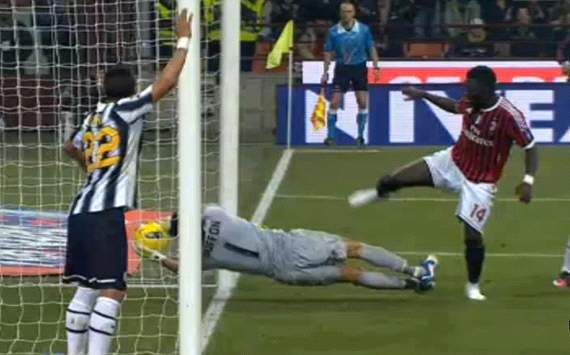 Muntari still disappointed by Buffon's reaction to 'ghost goal'