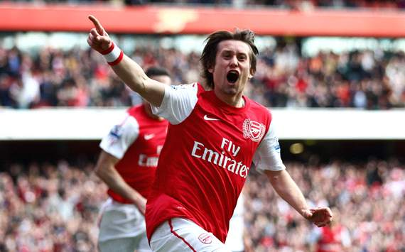 EPL: Tomas Rosicky, Arsenal v Tottenham