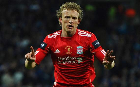 Carling Cup: Dirk Kuyt, Liverpool v Cardiff City