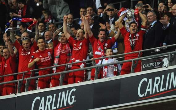 carling cup 2012, liverpool , Gerrard