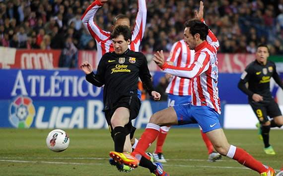 Liga BBVA: Atlético de Madrid-Barcelona: Lionel Messi; Juanfran