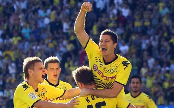 Borussia Dortmund: Lukas Piszczek, Sven Bender, Jakub Blaszczykowski & Robert Lewandowski