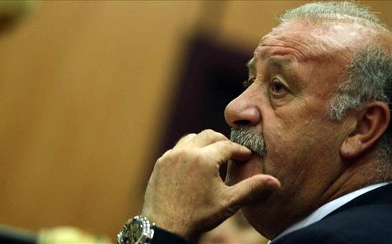 Del Bosque laments loss of Puyol and expects Villa to miss Euro 2012