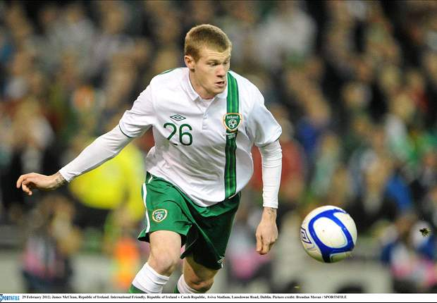 James McClean makes Republic of Ireland Euro 2012 squad but James McCarthy out due to personal reasons