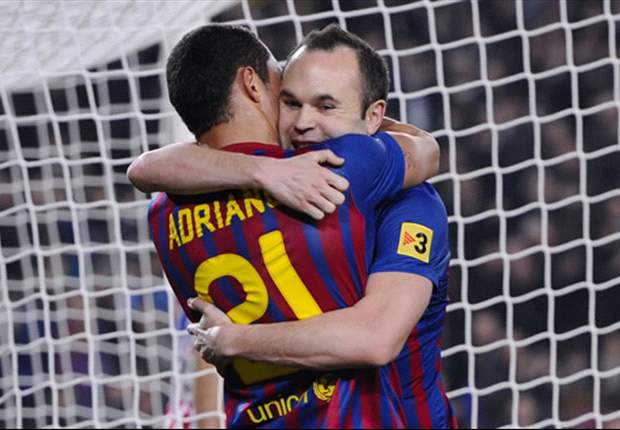 Barcelona unbeaten in 48 Primera Division games with Iniesta in the starting line-up