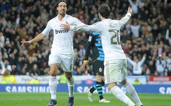 Liga BBVA: Real Madrid-Espanyol: Sami Khedira; Gonzalo Higuain