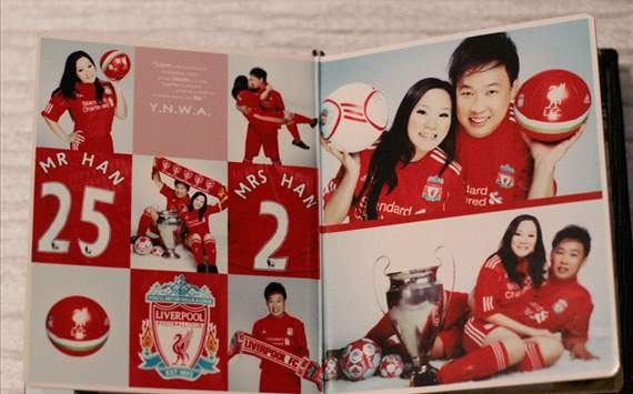 Singapore couple get married in crazy Liverpool themed wedding