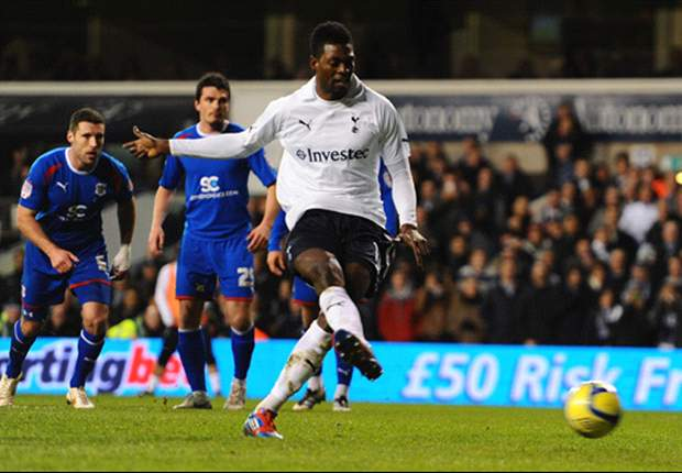 Adebayor threatens to pull plug on Tottenham move over £4m transfer fee
