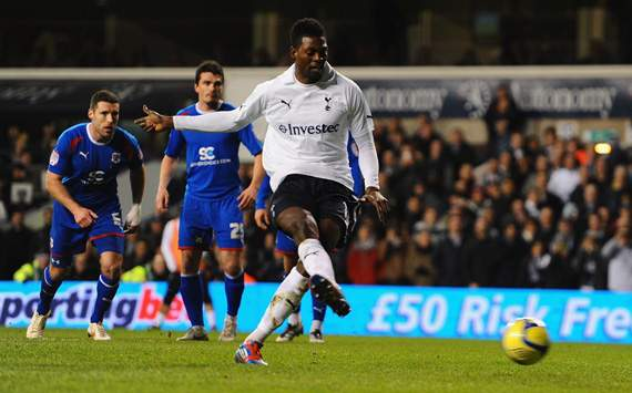 Tottenham close in on £5m deal for Adebayor from Manchester City