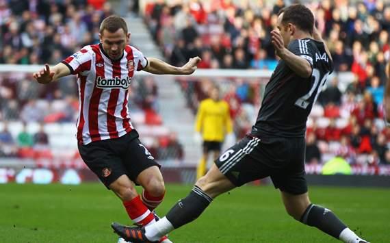 EPL - Sunderland vs Liverpool, Phil Bardsley & Charlie Adam