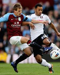 EPL - Aston Villa v Fulham, Mousa Dembele and Marc Albrighton