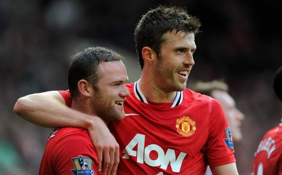 EPL - Manchester United v West Bromwich Albion, Wayne Rooney and Michael Carrick