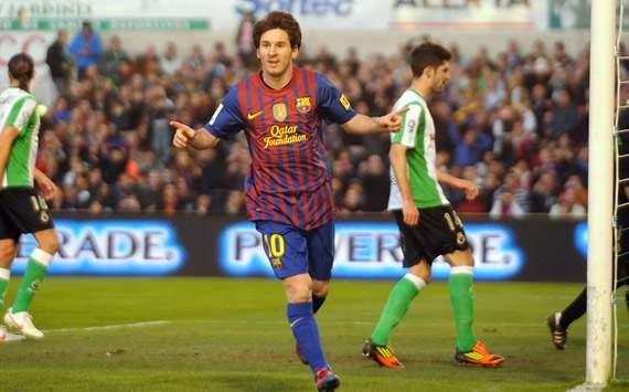 Liga BBVA: Racing Santander- FC Barcelona: Lionel Messi