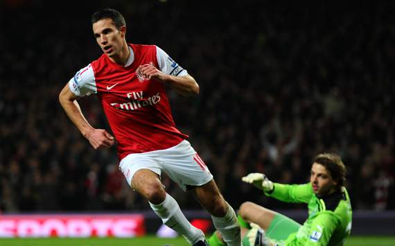 EPL - Arsenal v Newcastle United , Robin van Persie