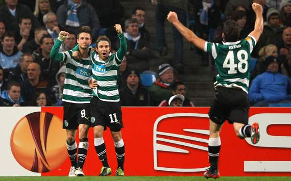 Europa League,Diego Capel,Manchester City FC v Sporting Lisbon