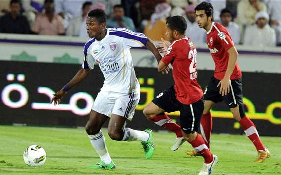 Asamoah Gyan bags two goals in nine-goal thriller as Al Ain lose against Al Ahli Dubai