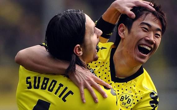 Borussia Dortmund v SV Werder Bremen - Bundesliga, Subotic and Kagawa