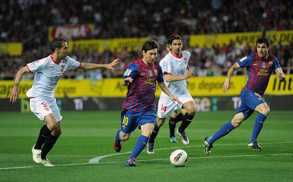 Stunning Xavi and Messi strikes sink Sevilla