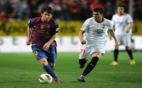 Leo Messi, José Antonio Reyes, Sevilla - Barcelona