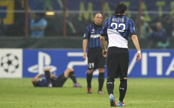 Inter players disappointment after Champions League elimination (Getty Images)