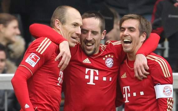 Arjen Robben, Franck Ribéry a Philipp Lahm
