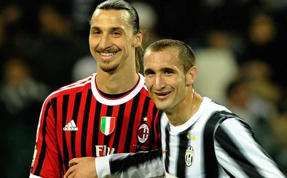 Ibrahimovic & Chiellini - Juventus-Milan - Tim Cup