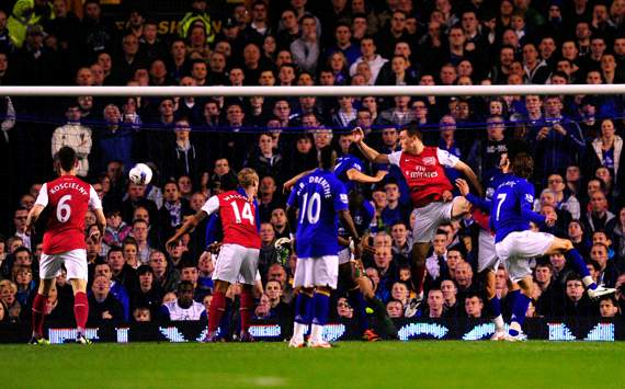 EPL : Thomas Vermaelen, Everton v Arsenal