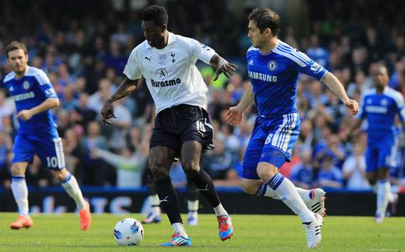 EPL - Chelsea vs Tottenham, Emmanuel Adebayor &amp; Frank Lampard 