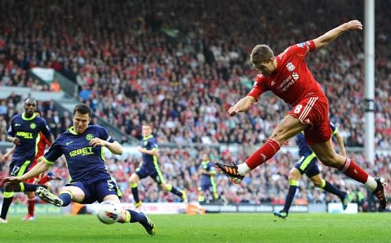 EPL: Steven Gerrard - Gary Caldwell, Liverpool v Wigan Athletic